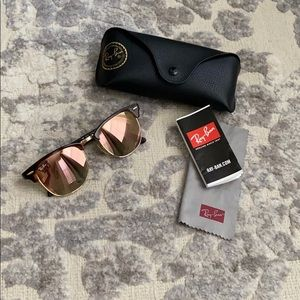 Ray Ban Rose Gold Clubmaster Sunglasses